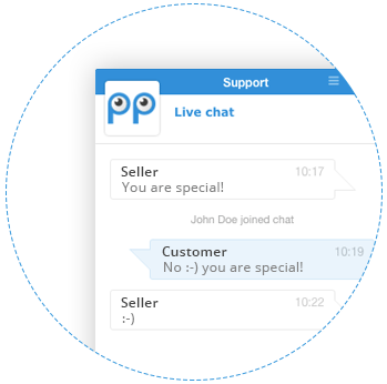 Live chat box customer care